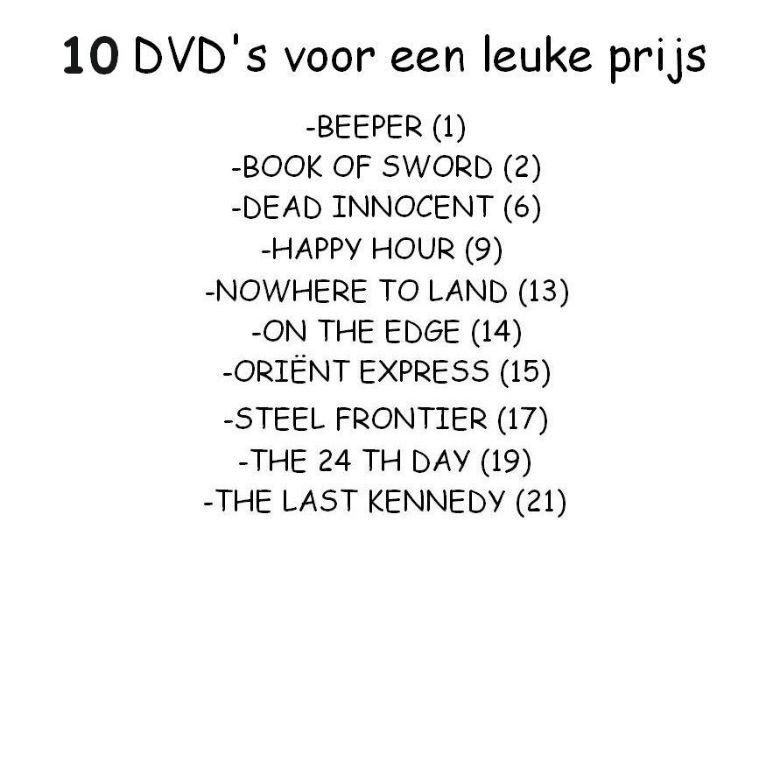 DVD MIX 10 STUKS