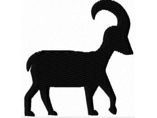 Sterrenbeeld Steenbok voor borduurmachine