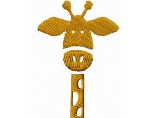 Borduurpatroon Girafje voor borduurmachine