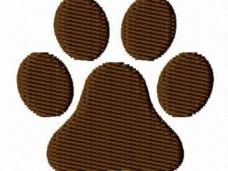 Borduurpatroon hondenpoot voor borduurpatroon