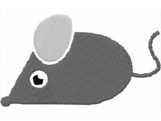 Borduurpatroon muisje (3 kleuren) voor borduurmachine