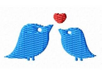 vogeltjes verliefd voor borduurmachines