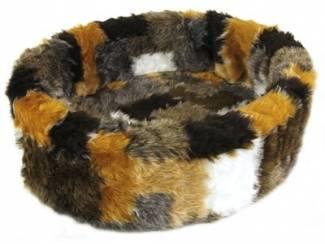 Petcomfort hondenmand bont lapjesdeken beige