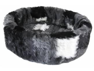 Petcomfort kattenmand bont lapjesdeken grijs