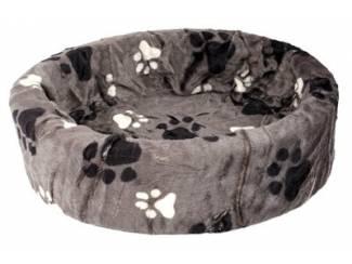 Petcomfort katten/hondenmand bont grijs grote poot