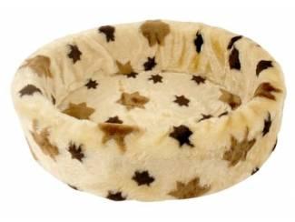 Petcomfort katten/hondenmand bont ster beige