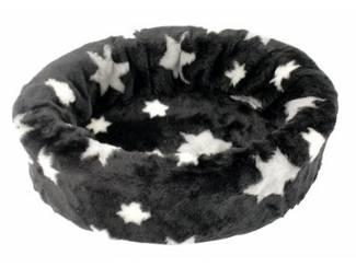 Petcomfort katten/hondenmand bont ster zwart
