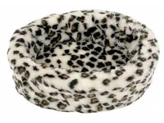 Petcomfort katten/hondenmand bont sneeuwluipaard
