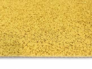 Loper met gouden glitters