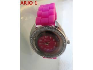 Horloges Dames horloge rubber band, Nr 57 - GEEN VERZENDKOSTEN