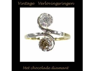 Unieke verlovingsringen met chocolade diamanten