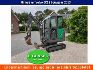 Minigraver Volvo EC18 Bouwjaar 2013