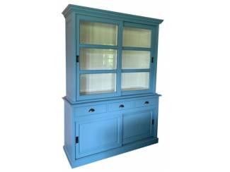 Buffetkast Ermelo oud blauw 160 x 50/40 x 220cm