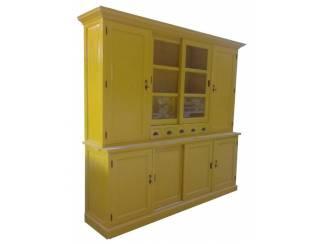 Buffetkast geel - geel 240 x 230cm dichte zijdeuren