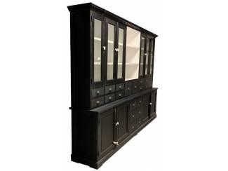 Buffetkast 20 laden XL zwart - wit 300 x 50/40 x 220cm