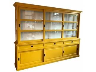 Buffetkast soft close geel 300 x 50/40 x 220cm