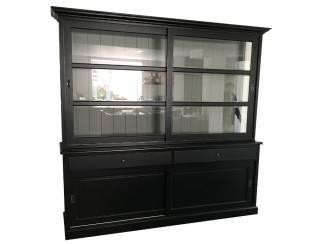 Buffetkast Lisse zwart-grijs 240 x 50/40 x 220cm
