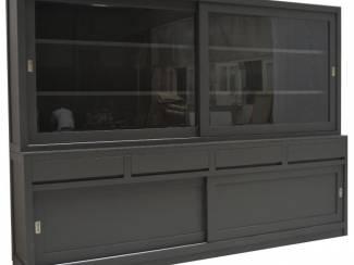 Buffetkast greeploos antraciet - antraciet 300 x 50/40 x 220cm