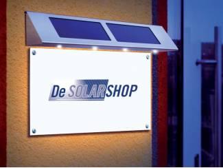 Solar  Reclamebord lamp !!