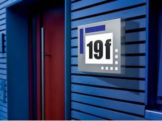 Huisnummer op Zonne-energie Design