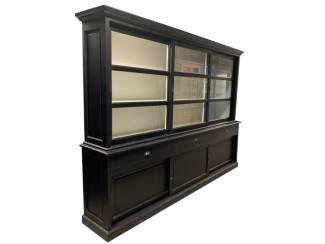Buffetkast Ermelo zwart 300 x 50/40 x 220cm