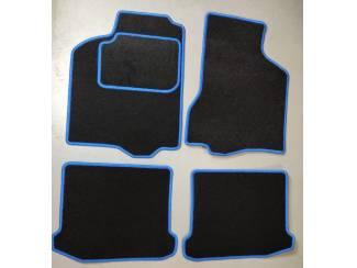 Velours automatten met blauwe rand Seat Ibiza II 1993-2002