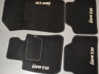 Velours automatten met beige 4x logo BMW 3-Serie E90