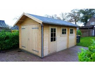 Tuinhuis-Blokhut-garage 3755: 375 x 550 x 270 (nokhoogte)