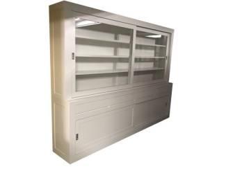 Buffetkast design soft close wit 280 x 50/40 x 220cm