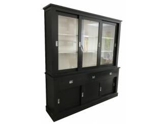 Buffetkast Almelo zwart - wit 200 x 220cm soft close laden