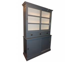 Winkelkast Oss grijs - wit schuifdeuren 160 x 50/40 x 220cm