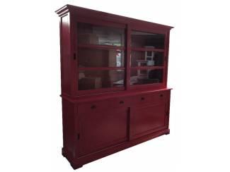 Sfeervolle buffetkast rood - rood 200 x 210cm