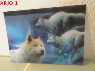 Drie D poster - wolven print nr 126 - GEEN VERZENDKOSTEN
