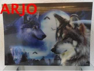 Drie D poster - wolven print nr 103 - GEEN VERZENDKOSTEN