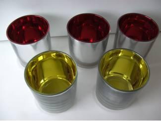 WAXINELICHTJE GLAS 5 STUKS Nieuw