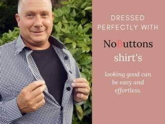 Overhemden met makkelijke sluiting. Knoopjesleed voorbij.