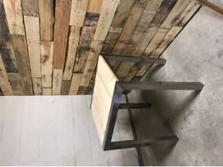 Tafels Bartafel / statafel rvs met steigerhout