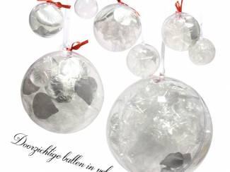 Feesten en Evenementen Kerstballen Transparant  Rood satijn kerst lint