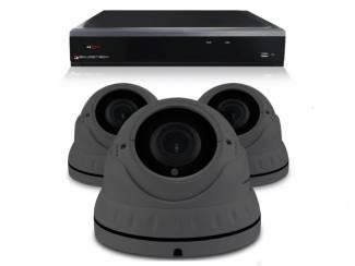 Camerabewaking set met 3 Dome camera ? 4MP 2K HD ? Analoog