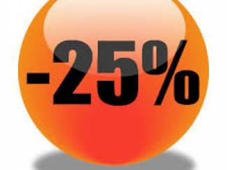 AKTIE! 25% korting op de verzendkosten van boeken!