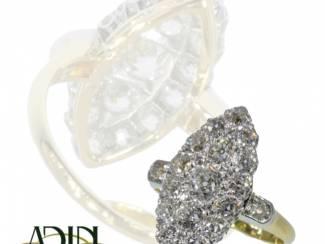 Vintage verlovingsring met prachtige diamant