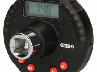 """1/2"""" digitale aanhaalmomentadapter met hoekmeter 10-200 Nm"""
