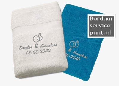 Set trouw-handdoeken