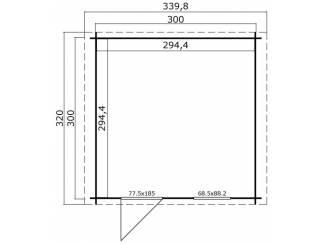 Huisjes en Meubelen Tuinhuis-Blokhut Wels 3 (1012846): 320x320 cm