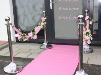 Roze loper Roze afzetlinten voor afzetpalen