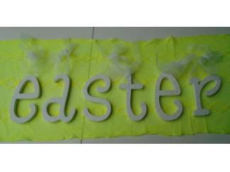 EASTER LETTERS WIT- GEEL Nieuw