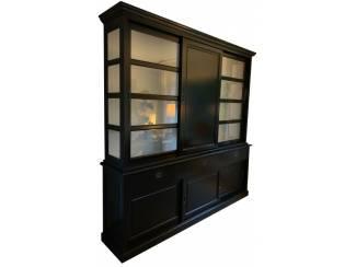 Buffetkast Nijkerk zwart 240 x 240cm dichte middendeur