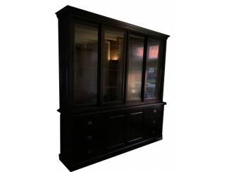 Buffetkast Lopik zwart - zwart 240 x 50/40 x 240cm
