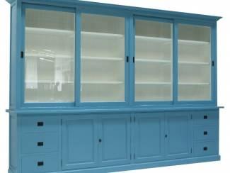 Buffetkast Lopik XXL oud blauw - wit 350 x 240cm