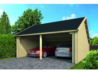 Tuinhuis-Blokhut garage NYSSE: 600 x 600cm